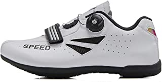 OneChange Road Cycling Shoes for Women Men, Unisex Mountain Bike Bicycle Trainers MTB Shoes Flat without Cleats (Color : White, Size : 13 UK)