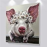 yhyxll Wandkunst Leinwand Poster Niedlichen Schwein Tier