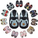 MARITONY Zapatillas para bebé para niños, para aprender a andar, de piel suave, suela de ante, antideslizantes, para bebés de 0 a 24 meses, color, talla 12-18 meses