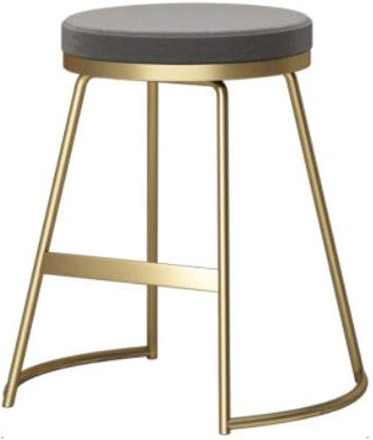 Bar stools Bar Home Bar Chair PU Wrought Iron Metal Foot Decoration Chair Restaurant Cafe Bar Stool Personal Leisure Kitchen Chair Height Chair (color   A, Size   45cm)