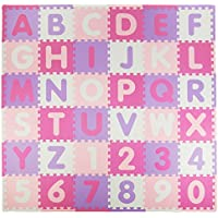 Tadpoles Soft EVA Foam 36 Piece ABC Playmat Set