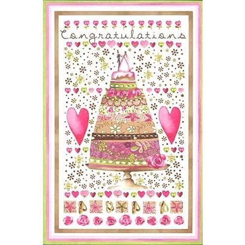 グリーティングカード 結婚/お祝い 「ウェディングケーキ」 結婚祝い おしゃれ メッセージカード ギフト 贈り物 封筒付き