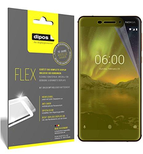 dipos I 3X Schutzfolie 100prozent kompatibel mit Nokia 6.1 2018 Folie (Vollständige Bildschirmabdeckung) Bildschirmschutzfolie