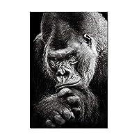 """オランウータンキャンバス絵画動物壁アートポスターとプリント猿の写真リビングルームの家の装飾の写真30x55cm / 11.8""""x21.7""""フレームレス"""
