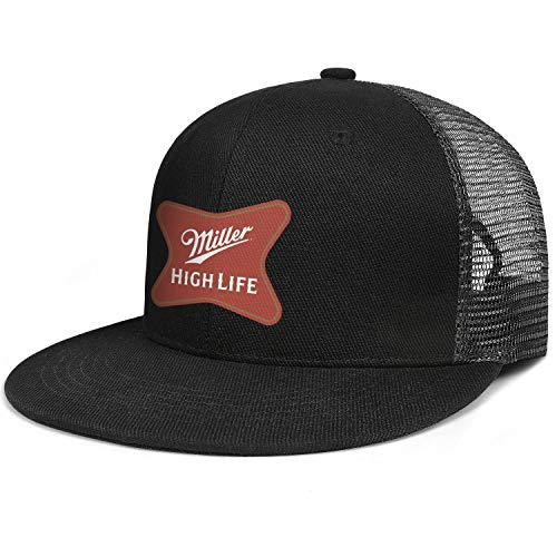 jdadaw Miller-High-Life- Woman Man Adjustable Flat Bill Baseball Caps Summer Hats Trucker Hats