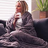 Aviano Premium Bamboo Cooling Weighted Blanket for Adults - 15 lbs (Taupe Gray) for Queen Size Bed (60x80 in.) - Heavy Blankets for Restlessness