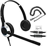 Deluxe HD-550 Double Ear Headset with Noise Canceling Microphone & U10 Adapter Cable for All Cisco 6000, 7800 and 8000 Series Phones and Models 7931 7940 7941 7942 7945 7960 7961 7962 7965 7970 7975