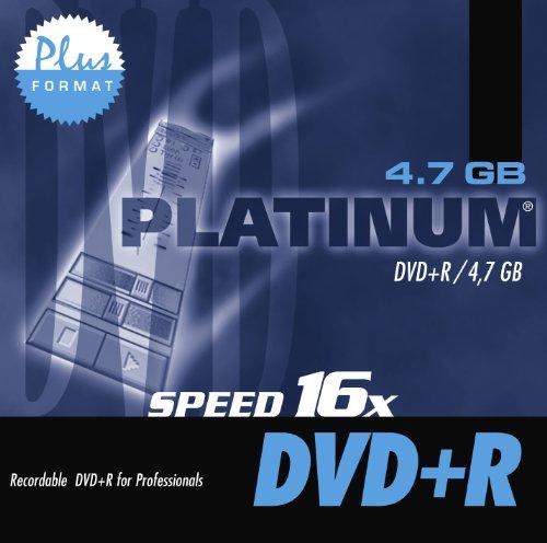 PLATINUM - DVD+R 120 minutes, 4,7 Go, 16x, Jewel Case