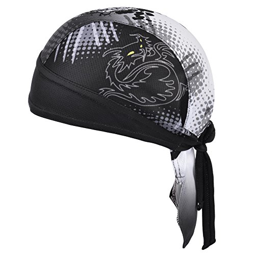 Vbiger Bandana Cap Sommermütze Bandana Kopftuch Atmungsaktive Fahrrad Kopfbedeckung, Farbe-01, Einheitsgröße - 6