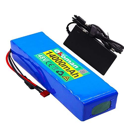 LUS Batería de Litio de 48V 13S4P 14Ah batería 350W-750W batería de...