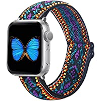 Adjustable Elastic Band Compatible with Apple Watch 38mm 40mm 42mm 44mm