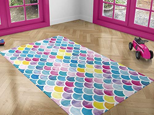 Oedim Alfombra Infantil Piel Sirena Colores para Habitaciones PVC | 95 x 200 cm | Moqueta PVC | Suelo vinílico | Decoración del Hogar | Suelo Sintasol | Suelo de Protección |