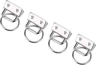20Pcs Bag Strap Connector DIY Bag Purse Making Supplies Durable Metal Tail Clip with Key Ring Hand-Made Metal Bag Clip