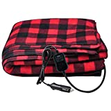 Yimeezuyu Electric Car Blanket Heated 12 Volt Fleece Travel Throw for Car Travel Camping Picnic for Autumn and Winter Season