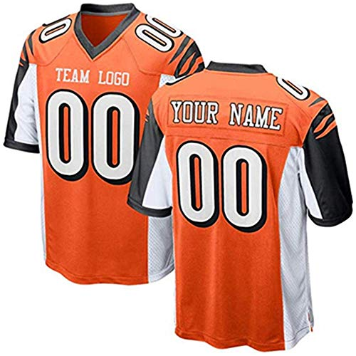 Custom All Team Football Uniforms Personalized Name and Number Embroidery Jerseys Men's Women's Youth (C.Bengal)
