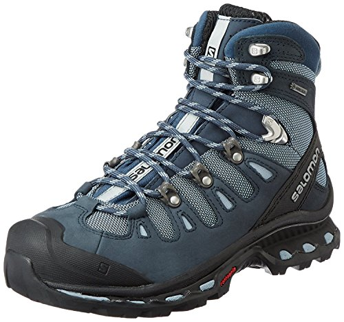 Salomon Women's Quest 4D 2 GTX W Backpacking Boot, Deep Stone Blue/Light Onix, 9 M US