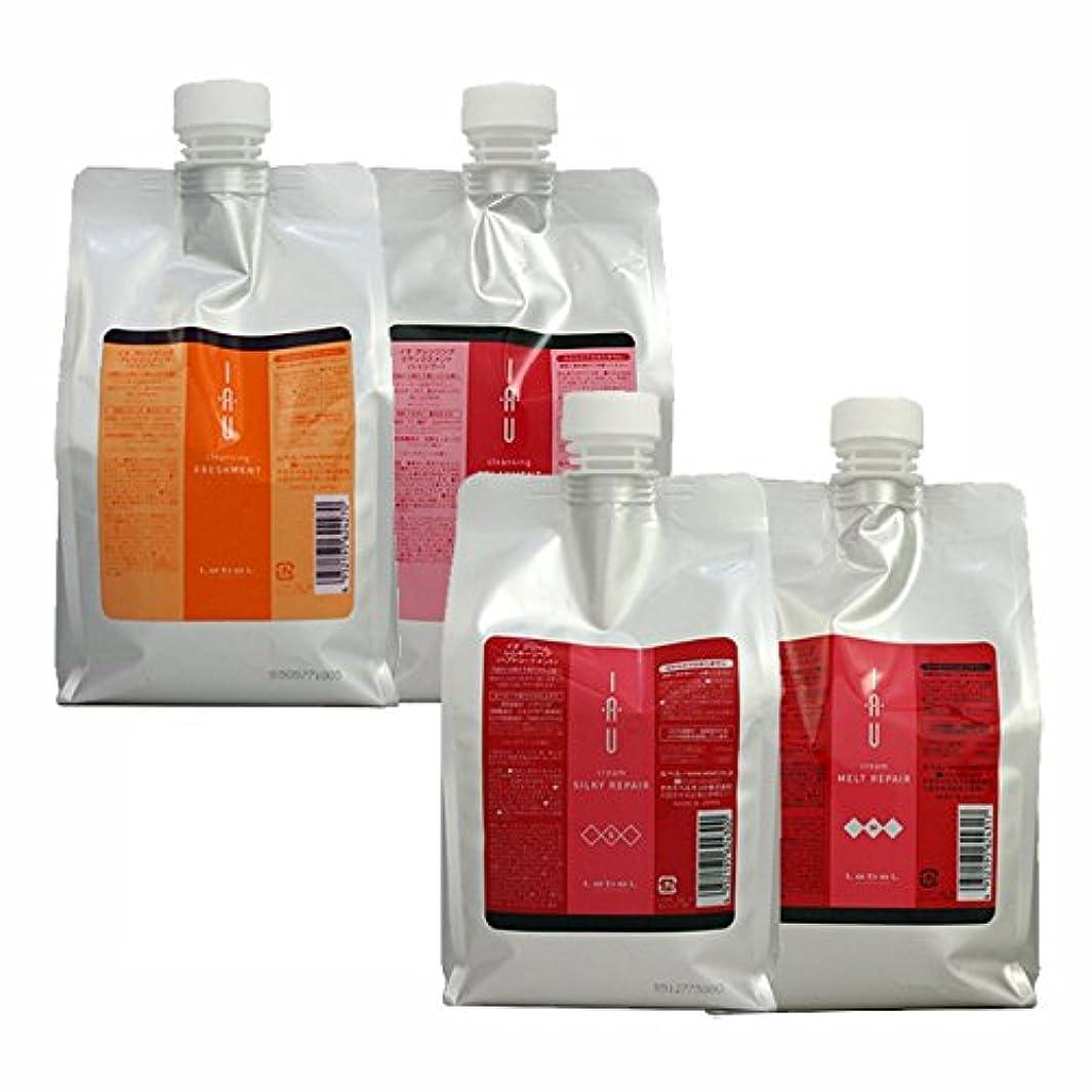 免除する牛肉弾薬ルベル イオ クレンジング ( フレッシュメント & リラックスメント) + クリーム ( シルキーリペア & メルトリペア ) 詰め替え1000mLサイズ 4点セット