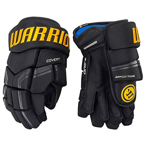 Warrior Covert QRE4 Handschuhe Senior , Größe:15 Zoll, Farbe:schwarz/Gold