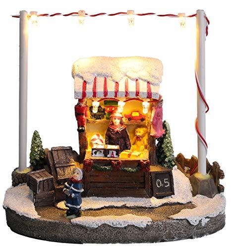 Christmas Concepts® - Escena de Mercado navideño con luz LED de 5'/ 13 cm (Puesto de Juguete)