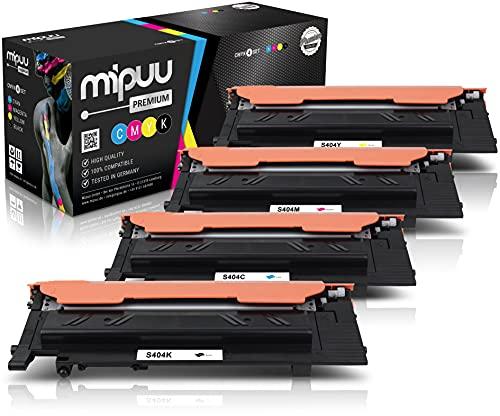 4 Mipuu Cartucho de tóner compatible con Samsung CLT-P404C (Black, Cyan, Magenta,...