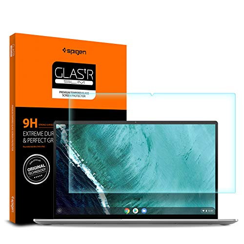Spigen Tempered Glass Screen Protector Designed for ONLY Asus Chromebook Flip C434TA (14 inch) [9H Hardness]