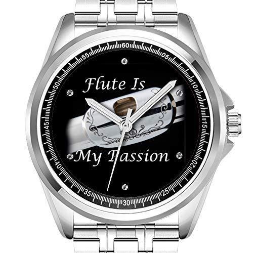 Personalizzata orologio da uomo moda impermeabile orologio da polso Diamond 540.Flauto is my Passion orologio da polso per musicisti