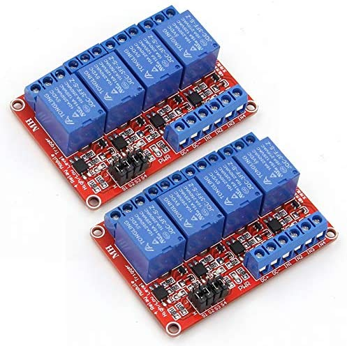 ANMBEST 2PCS 4 Channel 5V Relay Module with Optocoupler High or Low Level Trigger Expansion product image