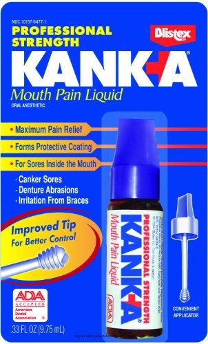 KankA Mouth Pain Liquid Professional Strength 033 Ounces