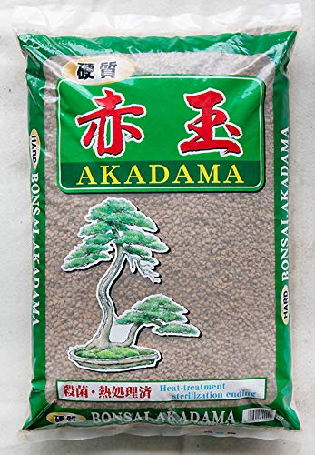Japanese Fired Super Hard Akadama Bonsai Soil - Medium Size Grains 14 L / 20 Lbs