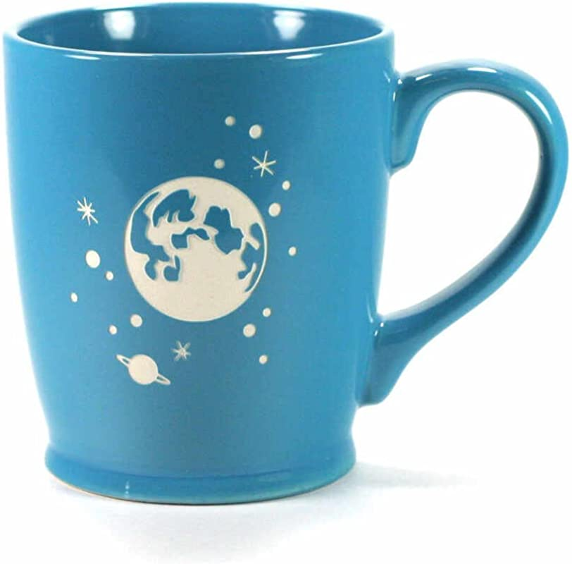 MOON AND STARS Coffee Mug SKY BLUE 16 Oz Microwave Safe Dishwasher Safe