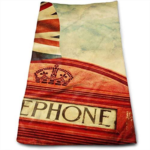 XNJHFGVB Toalla de mano impresa de Inglaterra, suave, altamente absorbente, grande, multiusos para cara, baño, gimnasio, hotel, spa, 30,5 x 68,5 cm