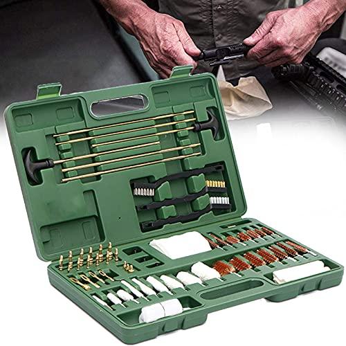 YNITJH Kit di Pulizia della Pistola,Attrezzature per La Pulizia della Pistola, Borsa per Fucile da Campeggio,per Tutte Le Pistole da Caccia del Fucile,con la Valigia
