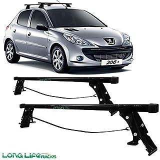 Rack Long Life Em Aço Para Carros Sem Calha Peugeot 206 / 207 Hatch E Sedan – 4 Portas