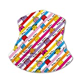 Photo de Akhy Multifunctional Headwear Boys Girl Face Mask Headband Neck Gaiter Mr Men & Little Miss Rainbow Stripes Pattern Balaclava for Teens par