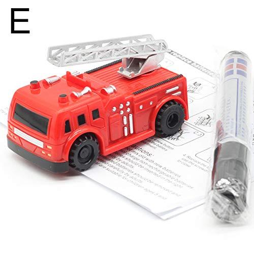 Metyere Magic Tracks Cars Magic Pen Inductive Cars Induction Rail Track Car Truck Follow Drawn Line Track Engineering Educational Mini Toy
