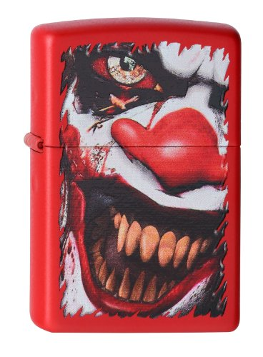 Zippo 233 Evil Clown Feuerzeug, Messing, Rot, One Size