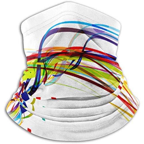 Faithe Keppel Halswärmer-Halsgamasche aus Mikrofaser, Ohrwärmer-Stirnband und Gesichtsmaske. Ultimative Wärmespeicherung der Rainbow Wave Line