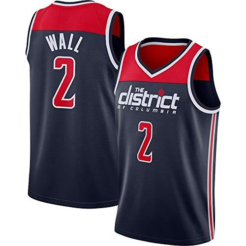 Camiseta para Hombre NBA John Wall # 2 Washington Wizards NBA Unisex Camisetas Sin Mangas para Jóvenes Trajes De Competición Deportiva Al Aire Libre,XL