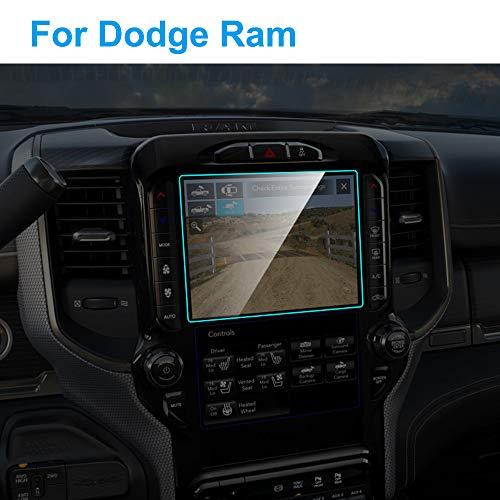 SLONGK Protector de Pantalla del Coche Interior del Coche Navegación GPS Película de Vidrio Templado Película Protectora Accesorios para automóviles, para Dodge Ram 2018-2019