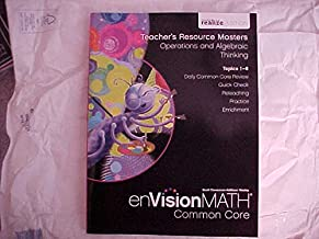 eVision Math Common Core Grade 1 Teacher's Resource Masters Operations and Algebraic Thinking Topics 1-6 realize Edition
