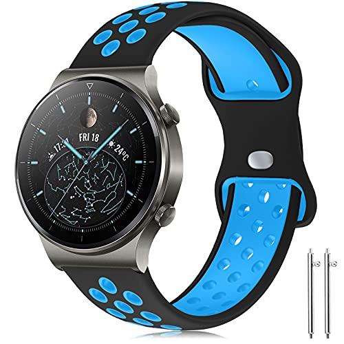 Compatible con Huawei Watch GT2 Pro Correa/Huawei Watch GT2 46mm Correa, 22mm Silicona Pulsera Deportiva Correa para Huawei...