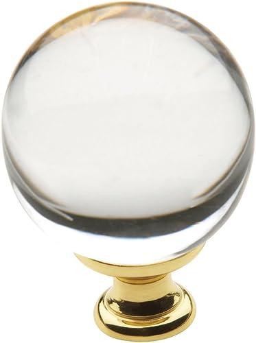 "popular Baldwin Estate 4302.030 Swarovski new arrival Crystal Round Cabinet Knob in 2021 Polished Brass, 1.38"" Diameter online sale"