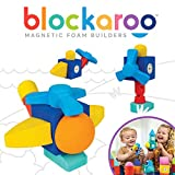 Blockaroo Magnetic Foam Building Blocks - STEM Construction Toy for Girls & Boys, Soft Foam Blocks Develop Early Learning Skills, the Ultimate Bath Toys for Toddlers & Kids - Helicopter Set