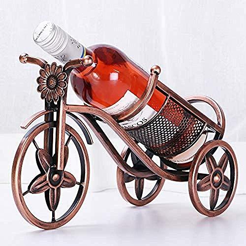 ZKAIAI retro Moderno Estilo Europea retro vino estante triciclo botella de hierro forjado cocina de casa retro pantalla del gabinete del restaurante estante de escritorio de almacenamiento en rack Dec