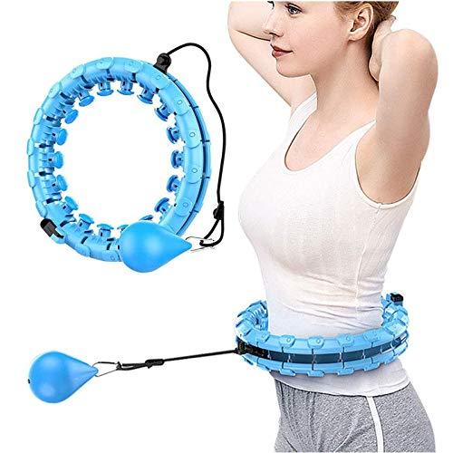 PPTF Hula-Reifen, 360 ° Bauchmassage Hula-Reifen, 24 Einstellbare Längen, Geeignet Für Erwachsene/Kinder/Anfänger Familien/Fitnesshilfsmittel (Color : Blau)