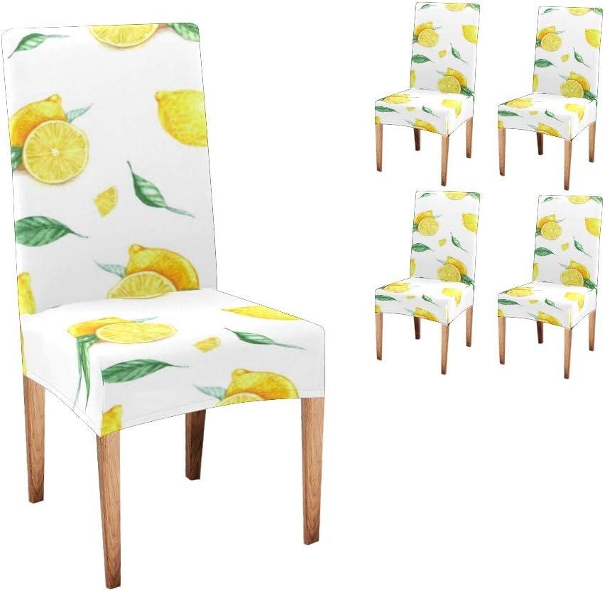 安い 激安 プチプラ 高品質 Anneunique Chair Covers for Dining Lemo 情熱セール Fruit Custom Yellow Room