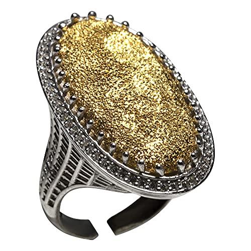 Anillo hecho a mano ovalado de plata hecho a mano EL PRECIOUS DS0002