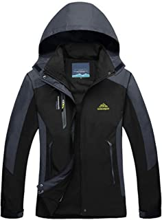 MAGCOMSEN Women's Jacket Water-Resistant Rain Jacket Lightweight Hooded Windproof Windbreaker for Hiking, Running