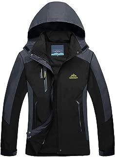 MAGCOMSEN Women's Lightweight Sportswear Hiking Windproof Jacket Softshell Hooded Raincoats Outerwear