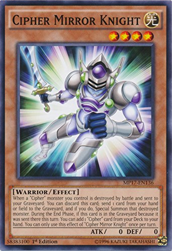 yu-gi-oh Cipher Mirror Knight - MP17-EN136 - Common - 1st Edition - 2017 Mega-Tin Mega Pack (1st Edition)
